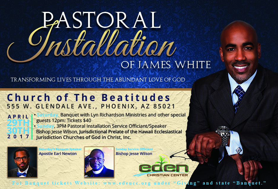 installation service for new pastor | just b.CAUSE
